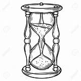 Drawing Antique Hourglass Clock Sand Reloj Coloring Tattoo Para Arena Illustration Colorear Glass Drawings Pages Hour Getdrawings Sketches Unique Most sketch template