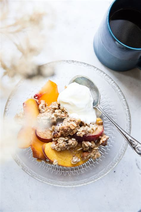 Peach Breakfast Crisp Vintage Mixer