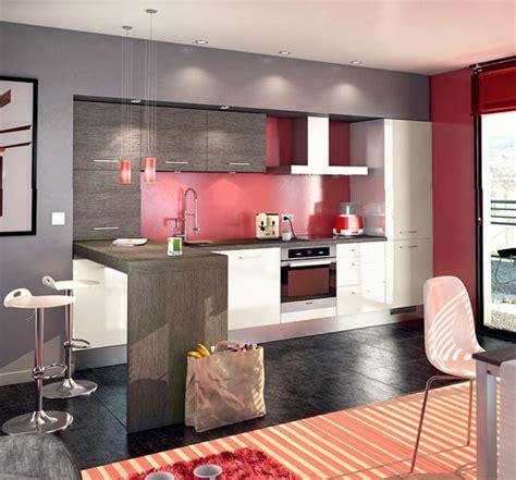 couleur cuisine salon air ouverte cuisine et grise un style contemporain et urbain