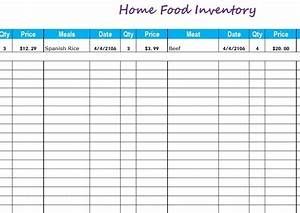 Free Excel Inventory Sheets Home Food Inventory My Excel Templates