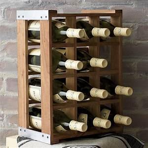 Rustic, Acacia, Wood, Crate, Wine, Racks