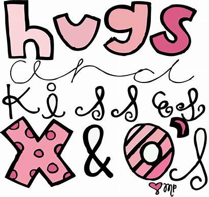 Kisses Clipart Clip Hugs Girly Hug Things