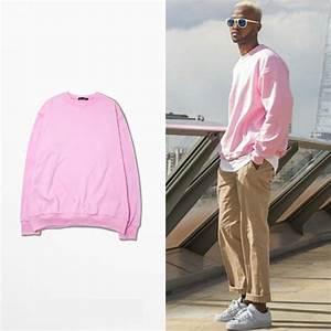 2016 New Kanye West Season 1 Mens Hip Hop Hoodies Harajuku Sweatshirt Pink Pullover Men Hoodie ...