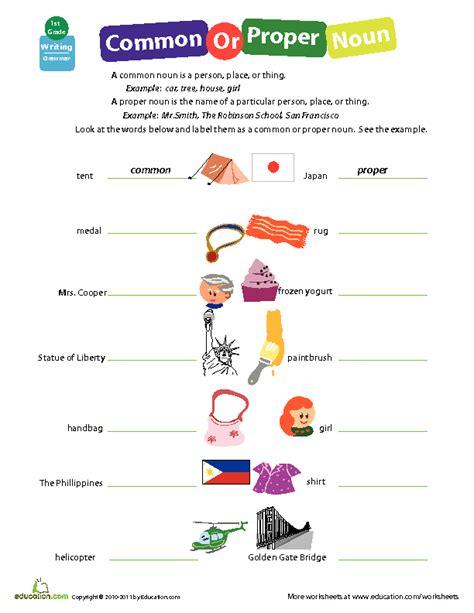 identifying common or proper nouns lesson plan