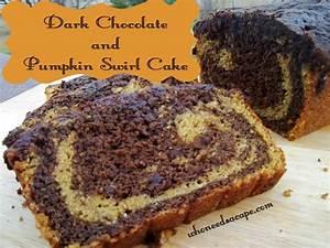 Dark Chocolate and Pumpkin Swirl Cake - Who Needs A Cape?