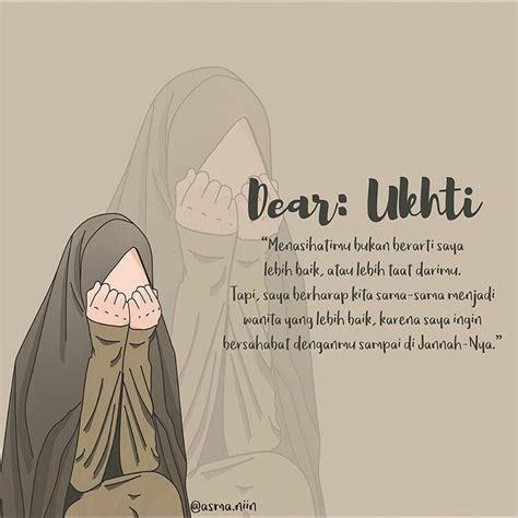 dear ukhti muslimah hijab seni islamis kutipan
