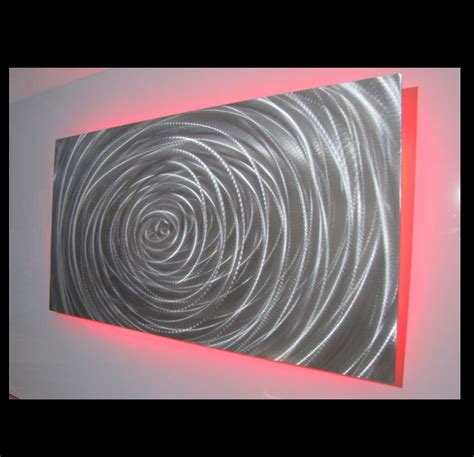 vortex single panel led light metalistik metal wall