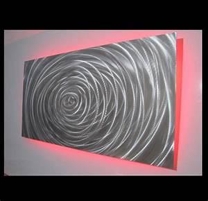 vortex single panel led light metalistik metal wall art With led wall art