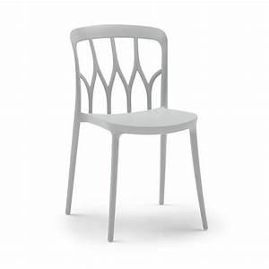 Chaise Design Contemporain : chaise galaxy blanc bontempi casa espace steiner design ~ Nature-et-papiers.com Idées de Décoration