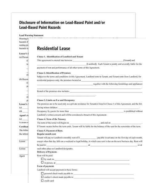 adams residential lease forms  instructions