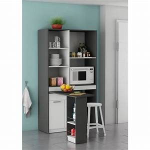 Buffet De Cuisine Gris : urban rangement de cuisine 100 cm blanc et gris graphite achat vente buffet de cuisine ~ Mglfilm.com Idées de Décoration