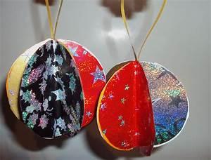 Boule De Noel A Fabriquer : fabriquer boule de noel d corer des boules en polystyrene ~ Nature-et-papiers.com Idées de Décoration