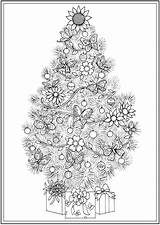 Coloring Christmas Trees Pages Tree Dover Publications Adult Colouring Creative Haven Colorir Doverpublications Sheets Mandala Holiday Xmas Desenhos Adults Printable sketch template