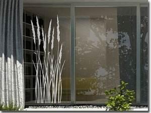 Sichtschutz Für Fensterscheiben : gr ser und bambus aufkleber f r fensterscheiben sichtschutzfolie fensterfolie glasdekor ~ Markanthonyermac.com Haus und Dekorationen