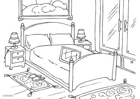 coloriage chambre coloriage chambre à coucher img 25998