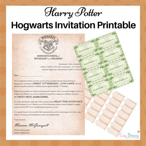 harry potter invitation harry potter invitation editable file by easybreezyparties
