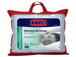 Oreiller Memoire De Forme Conforama : oreiller 40x60 cm dodo memoire de forme vente de oreiller et traversin conforama ~ Melissatoandfro.com Idées de Décoration