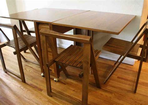 folding table  chair storage home furniture design