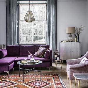 room reveal purple and grey living room sophie robinson With grey and purple living room