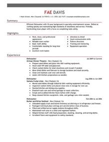 handing out resumes at a fair best dishwasher resume exle livecareer