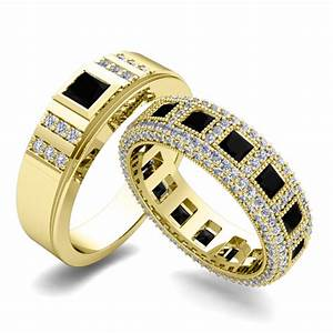 his and hers wedding ring in 14k gold black diamond ring With black diamond wedding rings his and hers