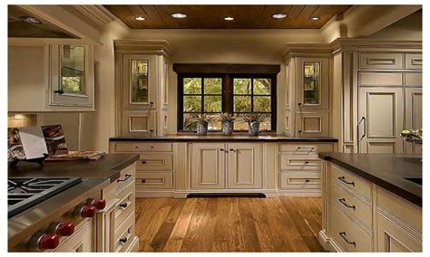 Gray Countertop White Cabinets, Rustic Kitchen With