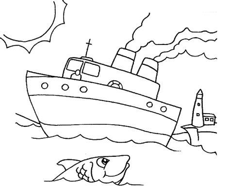 Kleurplaat Boot by Boot Kleurplaten Boot