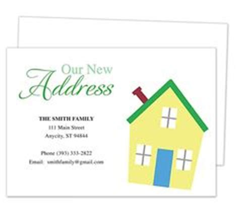 Moving Home Cards Template by 1000 Images About Moving Announcements New Address