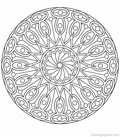 Coloring Mandala Pages Mandalas Colouring Printable Odd