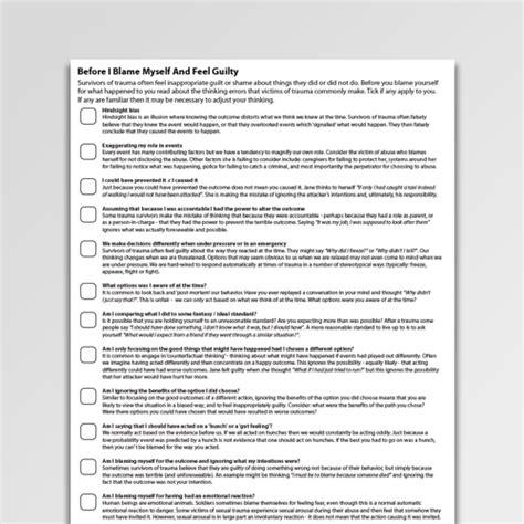 cognitive restructuring worksheets handouts psychology