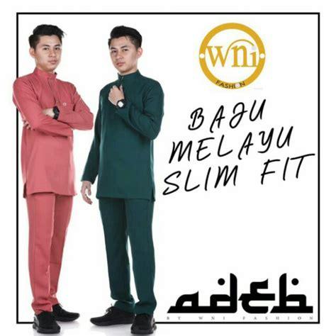free butang baju melayu slim fit shopee malaysia