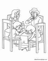 Dinner Coloring sketch template