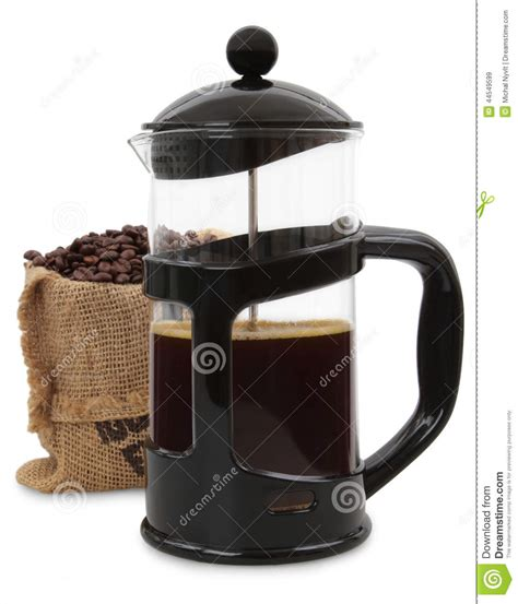 french press stock photo image 44549599