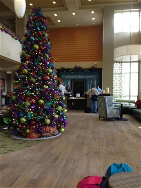 christmas tree decorators for hire los angeles front lobby with decorations picture of