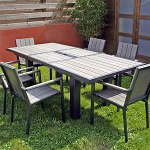 Salon De Jardin Aluminium Et Composite : salon de jardin table rallonge papillon 4 fauteuils ~ Edinachiropracticcenter.com Idées de Décoration