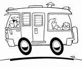 Coloring Rv Camper Campers Camping Drawing Printable Wheel Caravan Tt Motorhome Drawings Template 5th Timtim Dad Colouring Trucks 1000 Cars sketch template