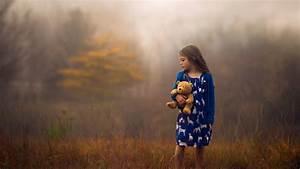 Children, Teddy, Bears, Little, Girl, Blue, Dress, Depth, Of, Field, Jake, Olson, Nebraska, Wallpapers, Hd