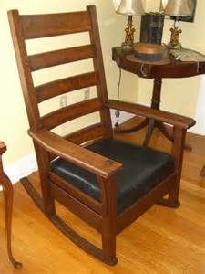 j m young stickley era rocker circa 1910 in very good