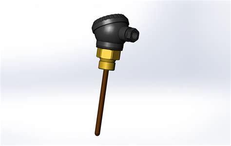 Погружной датчик температуры ESMU L-100 - Чертежи, 3D ...