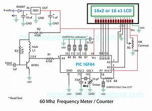 Embedded Engineering   60 Mhz Frequency Meter    Counter