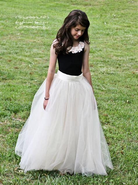 tutu skirt  girls flower girl dress soft tulle