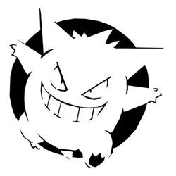 Gengar Pokemon Pumpkin Stencil pok 233 mon pumpkin carving stencils hallowen jack o lanterns