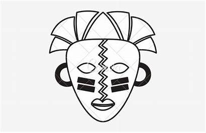 African Mask Masks Drawing Traditional Drawings Getdrawings