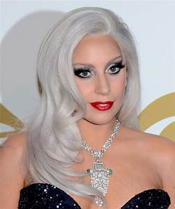 Lady GaGa Long Straight Formal Hairstyle Light Grey Hair
