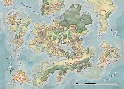 forgotten realms  book ideas   map