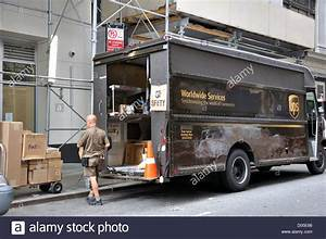 Ups Delivery Truck  New York City  Usa Stock Photo
