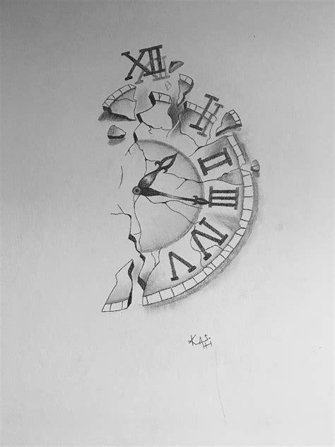 Pencil Arr on wall | Clock drawings, Art drawings simple