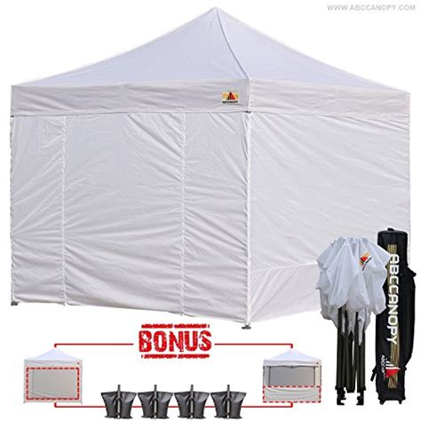 abccanopy    ez pop  canopy tent commercial instant gazebos   removable sides