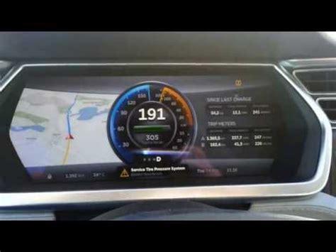 tesla speedometer hits  german autobahn electrek