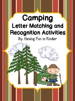 camping letter matching  recognition activities